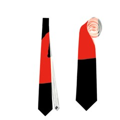 Halloween Witch   Red Moon Neckties (two Side)  by Valentinaart