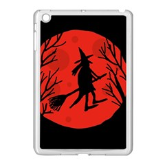 Halloween witch - red moon Apple iPad Mini Case (White) by Valentinaart