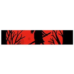 Halloween Witch   Red Moon Flano Scarf (small) by Valentinaart