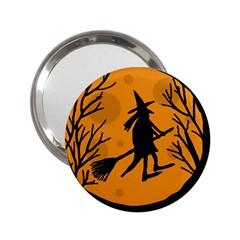 Halloween Witch   Orange Moon 2 25  Handbag Mirrors by Valentinaart
