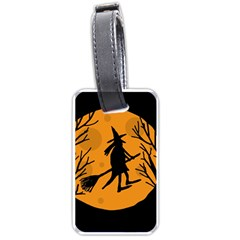 Halloween Witch   Orange Moon Luggage Tags (two Sides) by Valentinaart