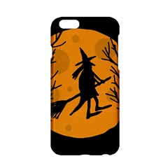 Halloween Witch   Orange Moon Apple Iphone 6/6s Hardshell Case by Valentinaart