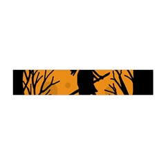 Halloween Witch   Orange Moon Flano Scarf (mini) by Valentinaart