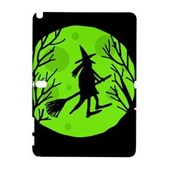 Halloween Witch   Green Moon Samsung Galaxy Note 10 1 (p600) Hardshell Case by Valentinaart