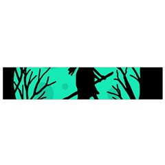 Halloween Witch   Cyan Moon Flano Scarf (small) by Valentinaart
