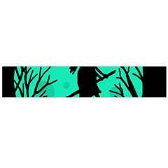 Halloween Witch   Cyan Moon Flano Scarf (large) by Valentinaart