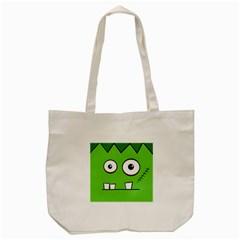 Halloween Frankenstein   Green Tote Bag (cream) by Valentinaart