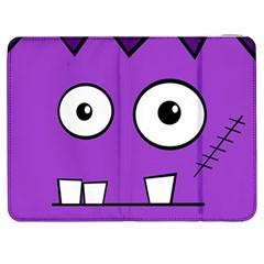 Halloween Frankenstein   Purple Samsung Galaxy Tab 7  P1000 Flip Case by Valentinaart
