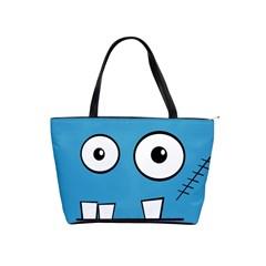 Halloween Frankenstein   Blue Shoulder Handbags by Valentinaart