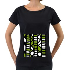 Green decor Women s Loose-Fit T-Shirt (Black)