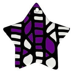 Purple Decor Star Ornament (two Sides)  by Valentinaart