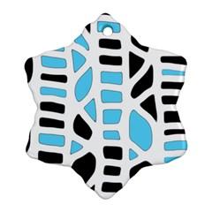 Light blue decor Snowflake Ornament (2-Side) by Valentinaart