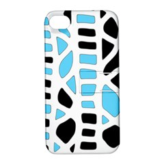 Light Blue Decor Apple Iphone 4/4s Hardshell Case With Stand by Valentinaart