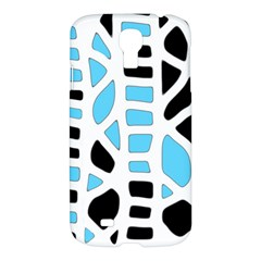 Light blue decor Samsung Galaxy S4 I9500/I9505 Hardshell Case