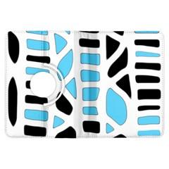 Light Blue Decor Kindle Fire Hdx Flip 360 Case by Valentinaart