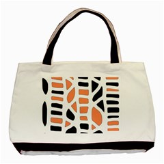 Orange Decor Basic Tote Bag by Valentinaart