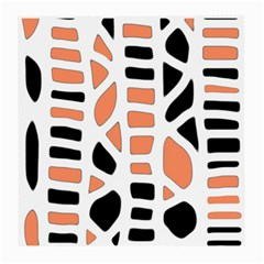 Orange Decor Medium Glasses Cloth by Valentinaart