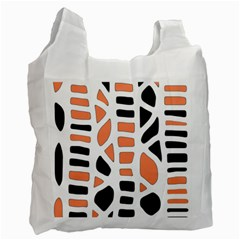 Orange decor Recycle Bag (One Side) by Valentinaart