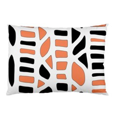 Orange Decor Pillow Case (two Sides) by Valentinaart