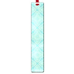 Light Blue Lattice Pattern Large Book Marks by TanyaDraws