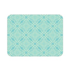 Light Blue Lattice Pattern Double Sided Flano Blanket (mini)  by TanyaDraws