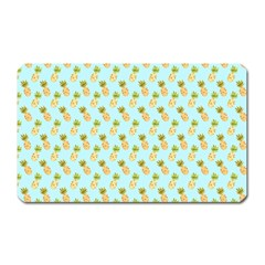 Tropical Watercolour Pineapple Pattern Magnet (rectangular) by TanyaDraws