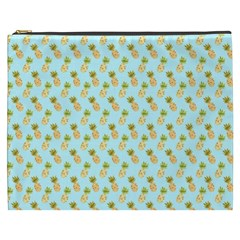 Tropical Watercolour Pineapple Pattern Cosmetic Bag (xxxl)  by TanyaDraws