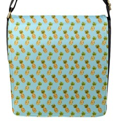 Tropical Watercolour Pineapple Pattern Flap Messenger Bag (s) by TanyaDraws