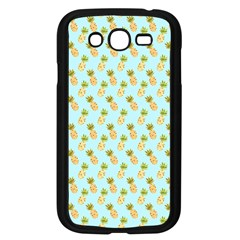 Tropical Watercolour Pineapple Pattern Samsung Galaxy Grand Duos I9082 Case (black) by TanyaDraws