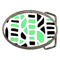 Light green decor Belt Buckles by Valentinaart