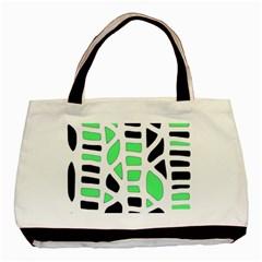 Light Green Decor Basic Tote Bag by Valentinaart