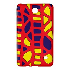 Red, yellow and blue decor Samsung Galaxy Tab 4 (7 ) Hardshell Case  by Valentinaart