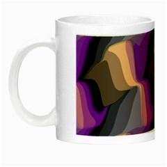 Wavy Pattern                                                                                           Night Luminous Mug by LalyLauraFLM