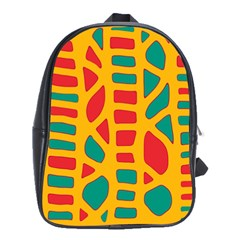 Abstract Decor School Bags(large)  by Valentinaart