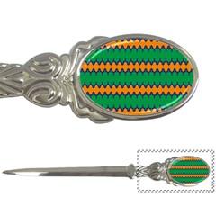Orange Green Chains                                                                                            letter Opener by LalyLauraFLM