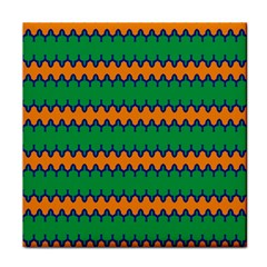Orange Green Chains                                                                                            			face Towel by LalyLauraFLM