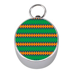 Orange green chains                                                                                            			Silver Compass (Mini) by LalyLauraFLM