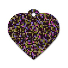 Dots                                                                                             dog Tag Heart (one Side) by LalyLauraFLM