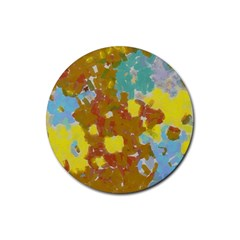 Paint Strokes                                                                                               			rubber Coaster (round) by LalyLauraFLM