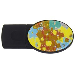 Paint Strokes                                                                                               			usb Flash Drive Oval (4 Gb) by LalyLauraFLM