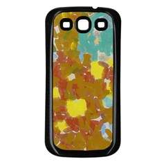 Paint Strokes                                                                                              samsung Galaxy S3 Back Case (black) by LalyLauraFLM