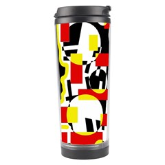 Red and yellow chaos Travel Tumbler by Valentinaart