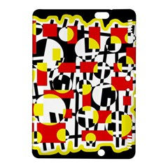 Red And Yellow Chaos Kindle Fire Hdx 8 9  Hardshell Case by Valentinaart