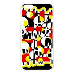 Red and yellow chaos Apple Seamless iPhone 6 Plus/6S Plus Case (Transparent) by Valentinaart