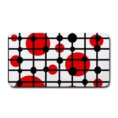 Red circles Medium Bar Mats by Valentinaart