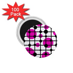 Magenta Circles 1 75  Magnets (100 Pack)  by Valentinaart