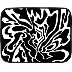 Black And White Decor Fleece Blanket (mini) by Valentinaart
