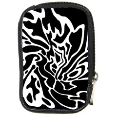 Black And White Decor Compact Camera Cases by Valentinaart