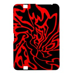 Red And Black Decor Kindle Fire Hd 8 9  by Valentinaart