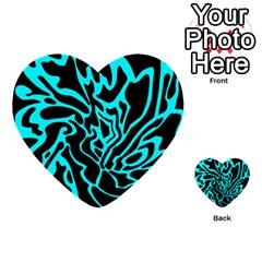 Cyan Decor Multi Purpose Cards (heart)  by Valentinaart